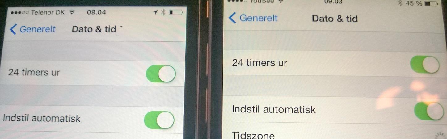 Tids fejl i iOS9