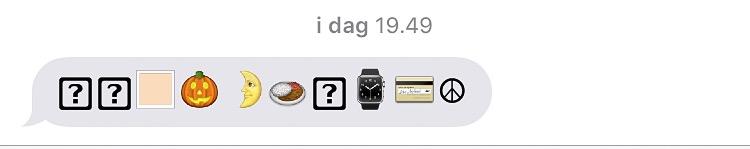 modtaget emoji som ikke er opdateret