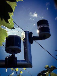 Netatmo regnmåler og vindmåler.