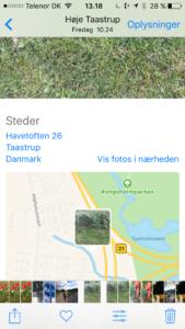 Billede oplysninger i iOS10