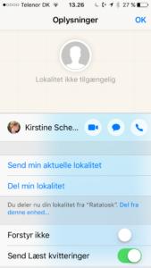 Oplysninger fra besked i iOS10